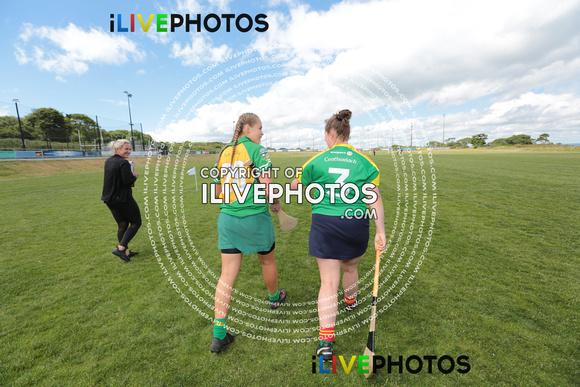 Abbye Donnelly Of Meath And Rachael Breen Carlow Leinster U 16 Camogie Poc Fada Beann